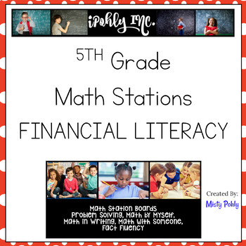 Math Stations Financial Literacy