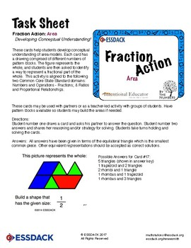 Math Stations: Fraction Action - Area (Grades 3rd - 5th)