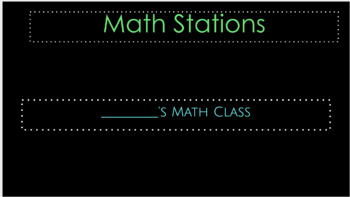Math Stations Google Slides