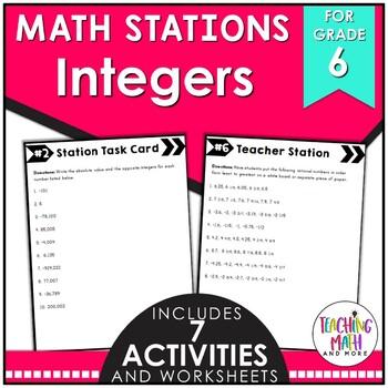 Middle School Math Stations: Integers