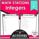 Middle School Math Stations: Integers