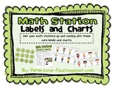Math Stations Labels and Charts