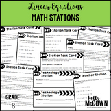 Middle School Math Stations: Linear Equations