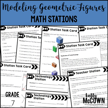 Middle School Math Stations: Modeling Geometric Figures