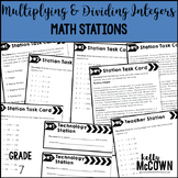 Middle School Math Stations: Multiplying & Dividing Integers