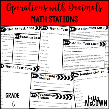 Middle School Math Stations: Operations with Decimals