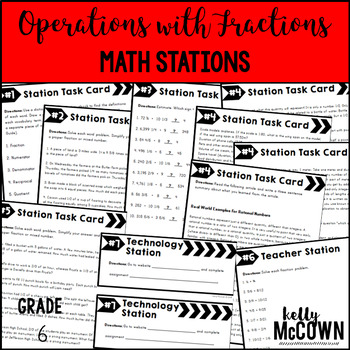 Middle School Math Stations: Operations with Fractions