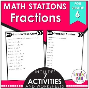 Math Stations: Operations with Fractions