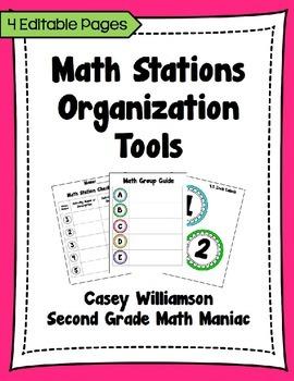 Math Stations Organization Tools