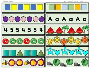 Math Stations Patterns Unit