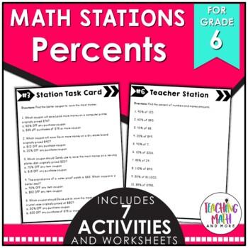 Math Stations: Percents