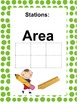 Math Stations: Perimeter, Area & Volume (task cards)