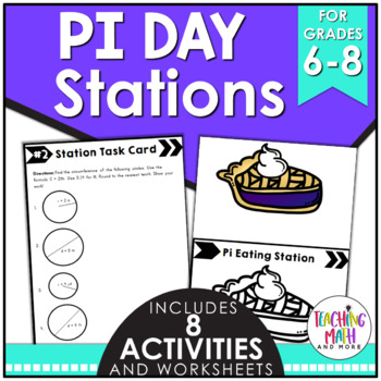 Middle School Math Stations: Pi Day