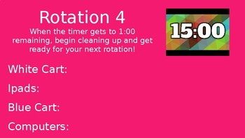 Math Stations Power Point with 15 minute timer