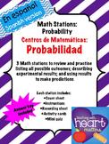Math Stations: Probability IN SPANISH (Centros de matemáticas en español)