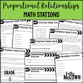 Middle School Math Stations: Proportional Relationships