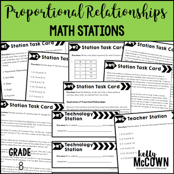 Math Stations: Proportional Relationships