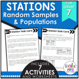 Middle School Math Stations: Random Samples & Populations
