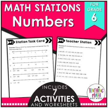 Middle School Math Stations: Rational Numbers