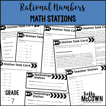Math Stations: Rational Numbers