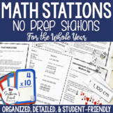 No Prep Math Stations for Whole Year
