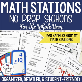 Math No Prep Station Place Value FREEBIE