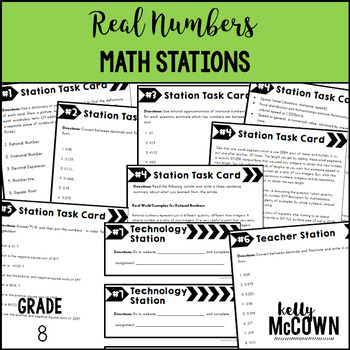Middle School Math Stations: Real Numbers