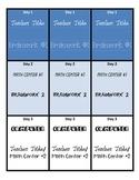 Math Stations Rotation Bookmarks