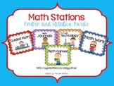 Math Stations Rotation Cards