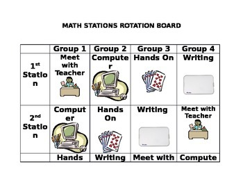 Math Stations Rotation Schedule