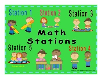 Math Stations Small Group Automated Rotation Powerpoint *N