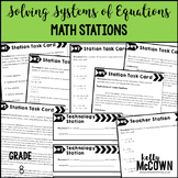 Solving Systems of Equations Math Stations