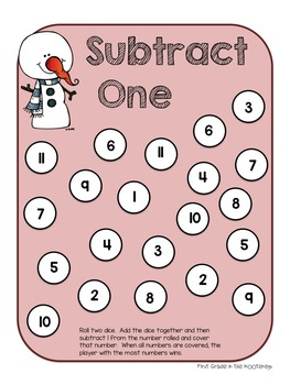 Math Stations Subtraction Unit