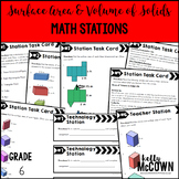 Middle School Math Stations: Surface Area & Volume of Solids
