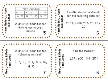 Math Stations: Test Prep Task Cards