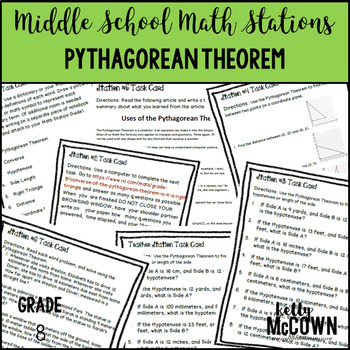 Middle School Math Stations: The Pythagorean Theorem