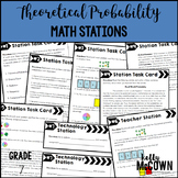 Middle School Math Stations: Theoretical Probability & Simulations