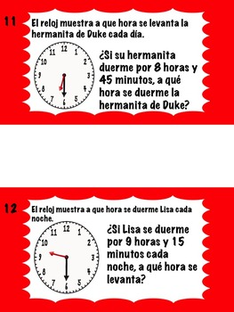 Math Stations: Time and temperature IN SPANISH (Centros de matemáticas)