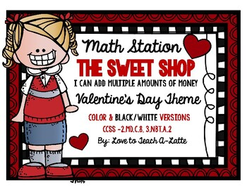 Math Stations Valentine's Day: The Sweet Shop
