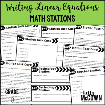 Middle School Math Stations: Writing Linear Equations