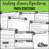 Writing Linear Equations Math Stations