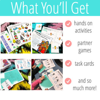 2nd Grade Math Stations Yearly Bundle
