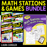 Math Centers and Games for Task Cards Bundle | Math Stations