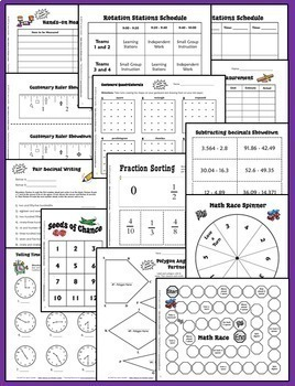 Math Centers | Math Stations Games for Task Cards Bundle