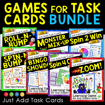 Math Centers | Math Stations with Games for Task Cards Bundle