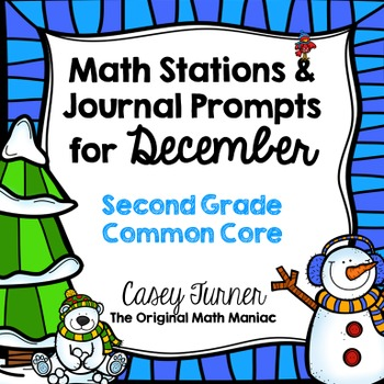 Math Stations and Journal Prompts for December: Second Grade Common Core
