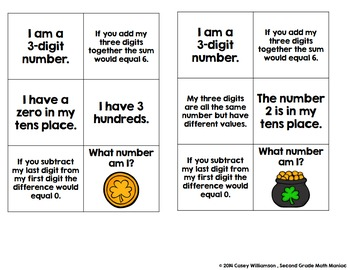 Math Stations and Journal Prompts for March: Second Grade Common Core