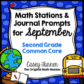 Math Stations and Journal Prompts for September: Second Grade Common Core