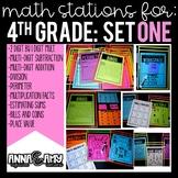 4th Grade Math Stations:  Set One