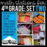 4th Grade Math Stations:  Set Two